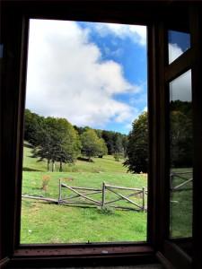 Panorama dalle finestre del rifugio